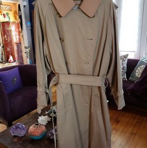 Burberry Wool London Fog Trench Coat